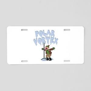Polar Vortex Aluminum License Plate