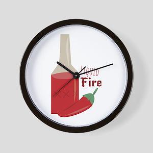 Liquid Fire Wall Clock