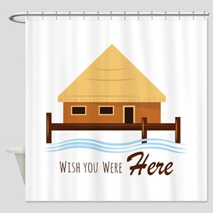 Vacation is Calling Shower Curtain