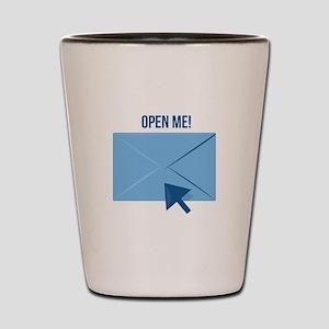 Open Me Shot Glass