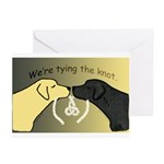 Black & Yellow Labs Tying Knot Announcements 10/pk