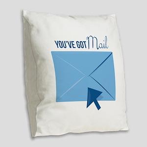 Youve Got Mail Burlap Throw Pillow