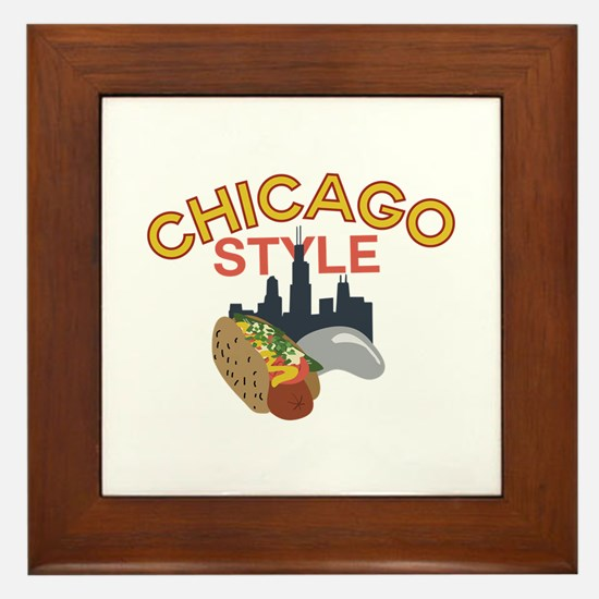 Chicago Style Framed Tile