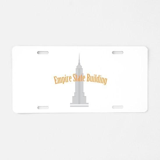 Empire State Building Aluminum License Plate