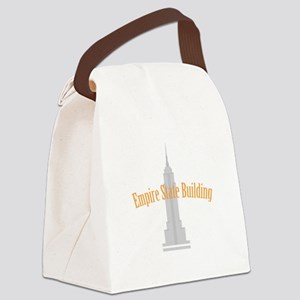 Empire State Building Canvas Lunch Bag