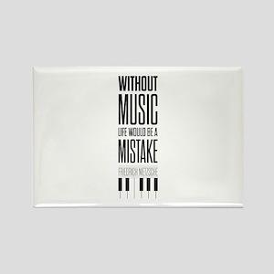 Friedrich Nietzsche Quote life music typog Magnets