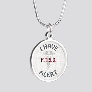 P.T.S.D. Silver Round Necklace