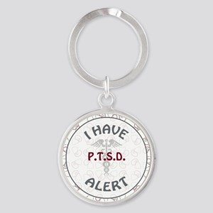 P.T.S.D. Round Keychain