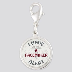 A PACEMAKER Silver Round Charm