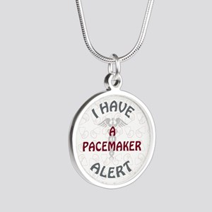 A PACEMAKER Silver Round Necklace