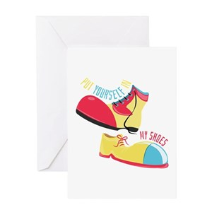 Clown shoes greeting cards cafepress m4hsunfo