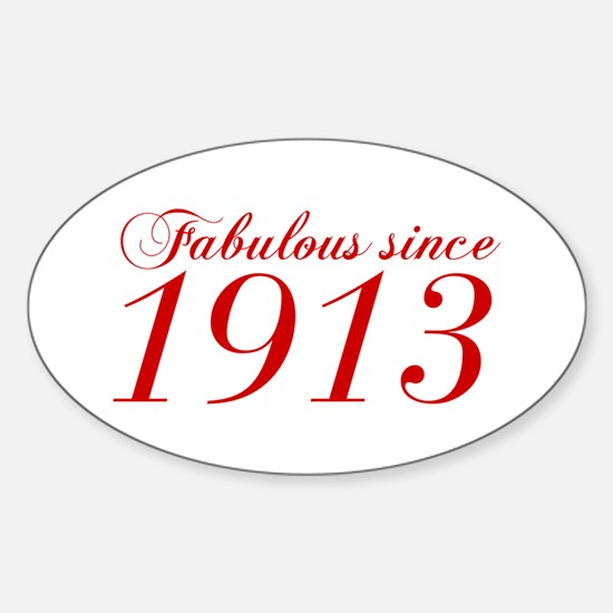 Fabulous since 1913-Cho Bod red2 300 Decal