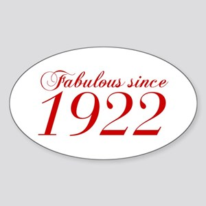 Fabulous since 1922-Cho Bod red2 300 Sticker