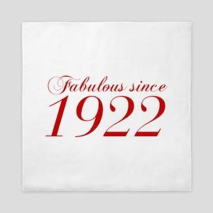 Fabulous since 1922-Cho Bod red2 300 Queen Duvet