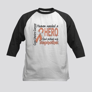 Uterine Cancer HeavenNeededHe Kids Baseball Jersey