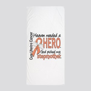 Uterine Cancer HeavenNeededHero1 Beach Towel