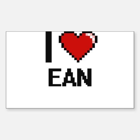 I Love Ean Decal