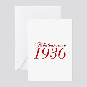 Fabulous since 1936-Cho Bod red2 300 Greeting Card