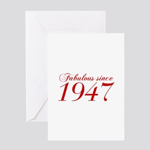 Fabulous since 1947-Cho Bod red2 300 Greeting Card