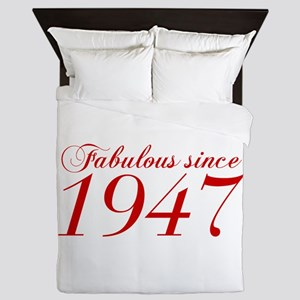 Fabulous since 1947-Cho Bod red2 300 Queen Duvet