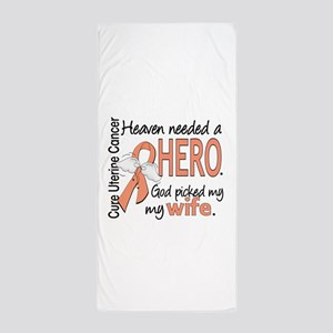 Uterine Cancer HeavenNeededHero1 Beach Towel