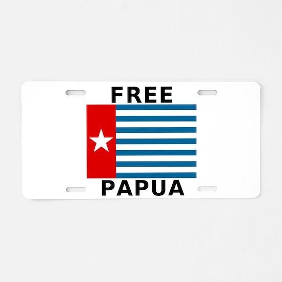 Free Papua Flag Aluminum License Plate