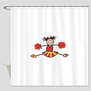 STICK CHEERLEADER Shower Curtain
