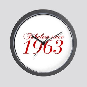 Fabulous since 1963-Cho Bod red2 300 Wall Clock