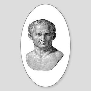 """""""Marcus Tullius Cicero"""" Oval Sticker"""