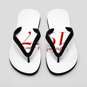 Fabulous since 1977-Cho Bod red2 300 Flip Flops