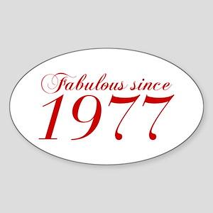 Fabulous since 1977-Cho Bod red2 300 Sticker