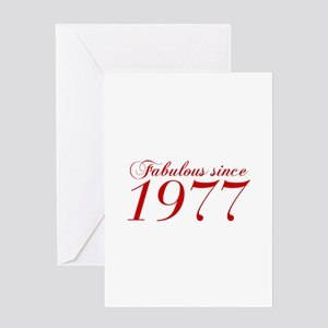 Fabulous since 1977-Cho Bod red2 300 Greeting Card