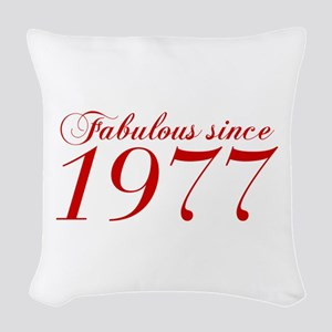 Fabulous since 1977-Cho Bod red2 300 Woven Throw P