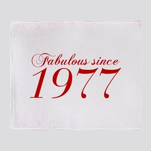 Fabulous since 1977-Cho Bod red2 300 Throw Blanket