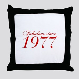 Fabulous since 1977-Cho Bod red2 300 Throw Pillow
