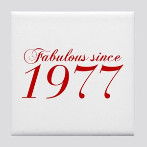 Fabulous since 1977-Cho Bod red2 300 Tile Coaster