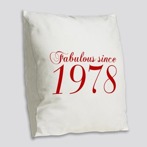 Fabulous since 1978-Cho Bod red2 300 Burlap Throw
