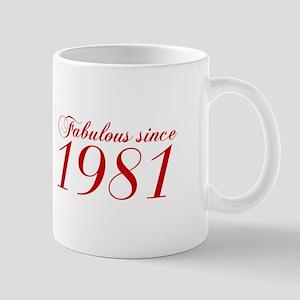 Fabulous since 1981-Cho Bod red2 300 Mugs