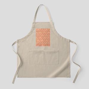 Orange Damask pattern Apron