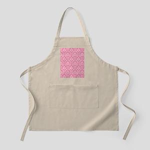 Pink damask pattern Apron