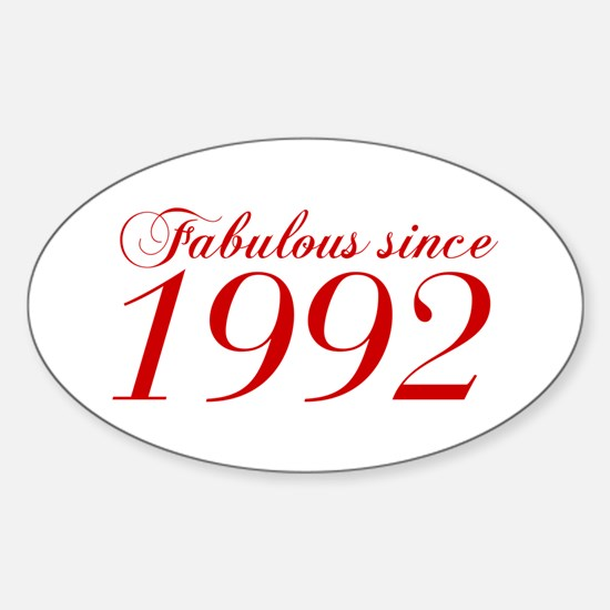 Fabulous since 1992-Cho Bod red2 300 Decal