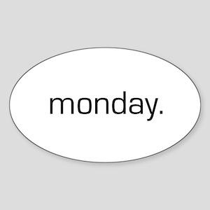Monday Oval Sticker