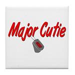Navy Major Cutie Tile Coaster