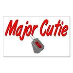 Navy Major Cutie Rectangle Sticker