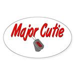 Navy Major Cutie Oval Sticker