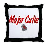 Navy Major Cutie  Throw Pillow