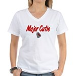 Navy Major Cutie Women's V-Neck T-Shirt