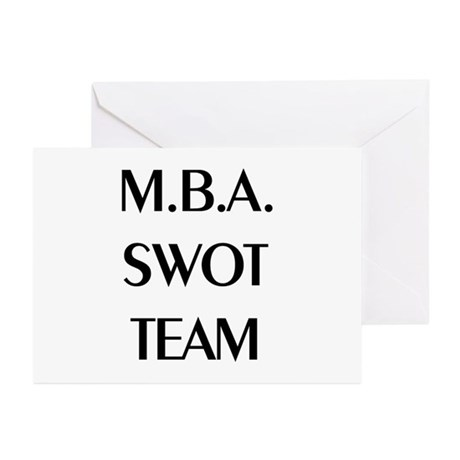 MBA SWOT Team Greeting Cards (Pk of 10)