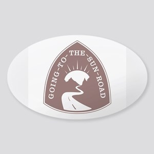 Going to the Sun Road, Montana Sticker (Oval)