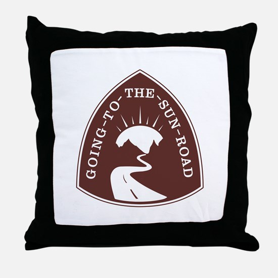 Going to the Sun Road, Montana Throw Pillow